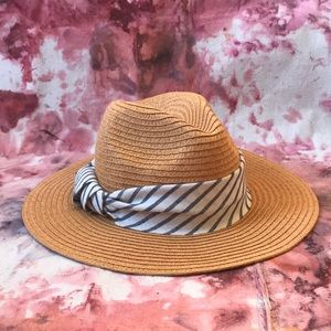 Anthropologie Woven Panama hat